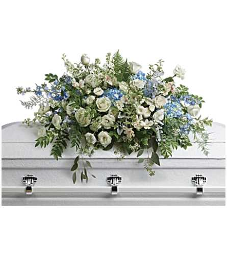 Tender Remembrance Casket Spray Teleflora