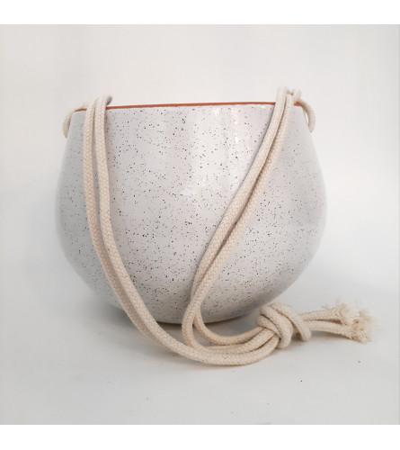 Speckled Hanging Pot