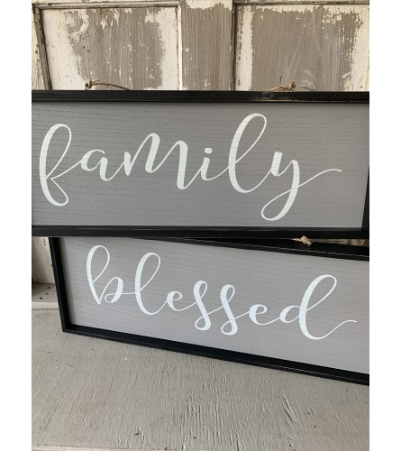Two-Sided Farmhouse Sign