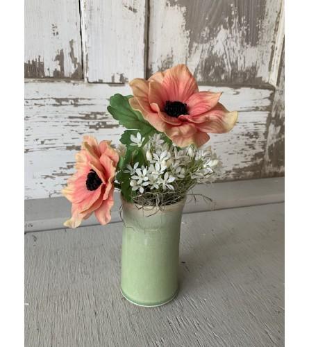 Tina Doorn Coral Pottery Vase