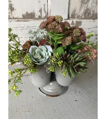 Triple Succulent Vase