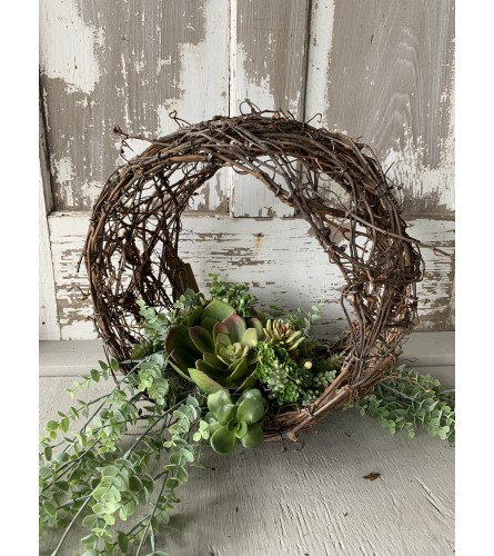 Grapevine Orb with Succulents