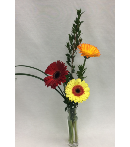 Cheerful Faces Gerbera Vase Arrangement