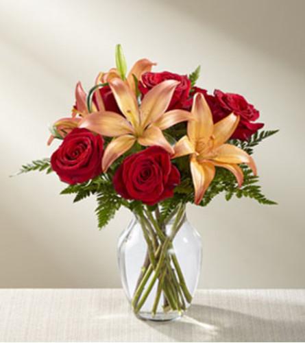 The FTD Fall Fire Bouquet Vase Arrangement