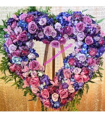 Fly High Heart Wreath
