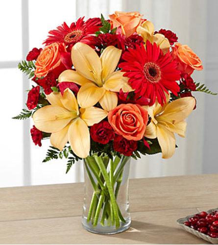 Autumn Sunset Bouquet Vase arrangement