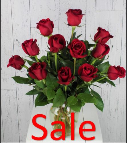 12 Red Rose Arrangement