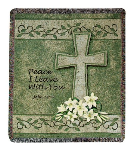John 14:27 Tapestry Throw