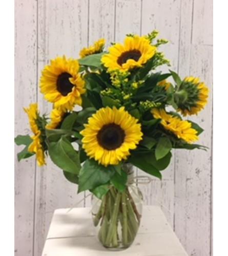 Local Sunflower Bouquet