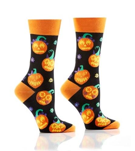 Women's Halloween Crew Socks, Lit Up