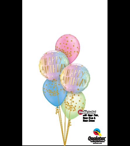 Nifty Neon Birthday Classic Confetti Balloon Bouquet