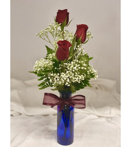 Triple Rose Vase