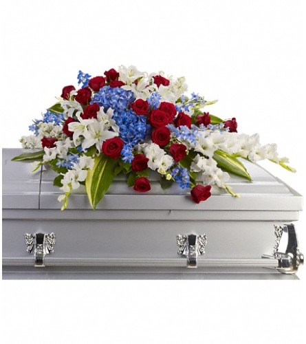 Distinguished Service Casket Spray by TF