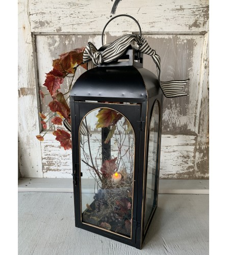 Deep Burgundy Fall Lantern