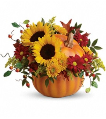 Teleflora's Pretty Pumpkin Bouquet Arrangement