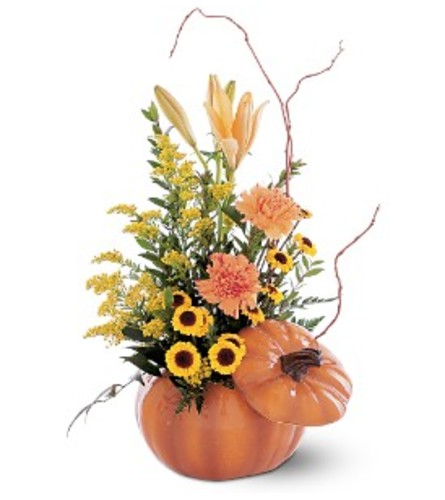 Teleflora's Pumpkin Delight Arrangement