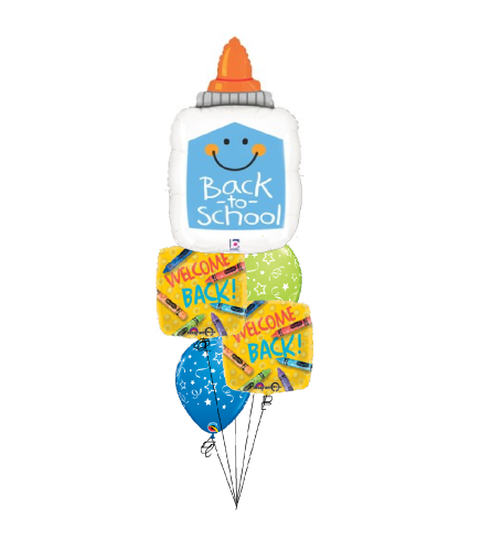 Glue Welcome Back To School Cheerful Balloon Bouquet