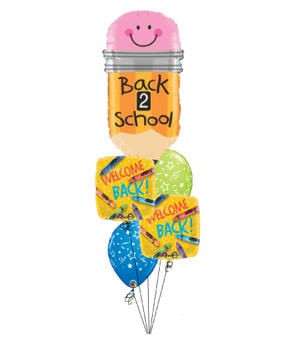 Pencil Welcome Back To School Cheerful Balloon Bouquet
