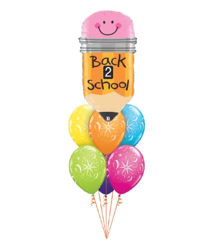 Back To School Pencil Awesome Balloon Bouquet