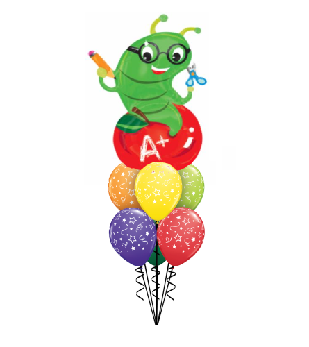 Back To School Bookworm Awesome Balloon Bouquet