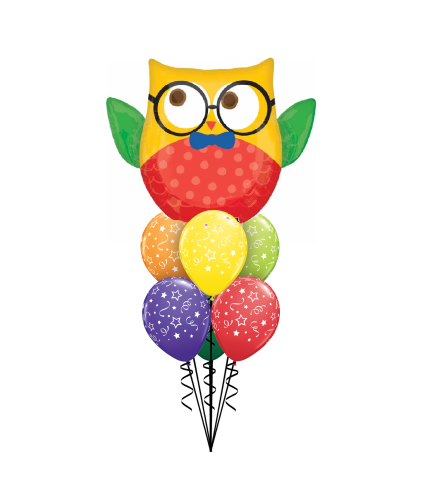 Owl Welcome Back To School Awesome Balloon Bouquet