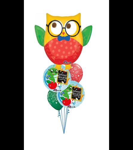 Early Bird Back To School Cheerful Balloon Bouquet