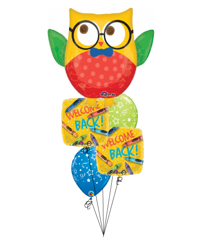 Welcome Back To School Owl Cheerful Balloon Bouquet