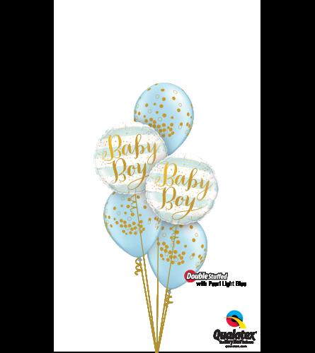 Pearl Light Blue Baby Confetti Dots Classic Confetti Balloon Bouq