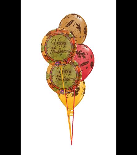 Happy Thanksgiving Classic Balloon Bouquet