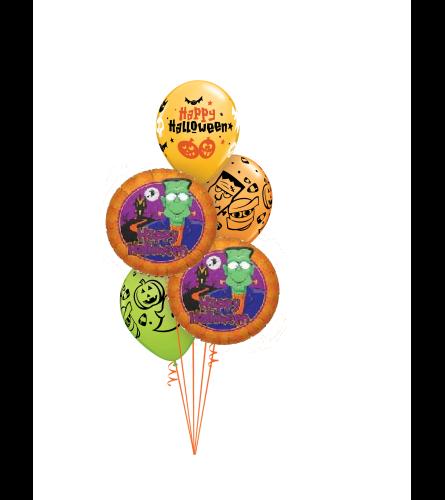 Halloween Frankenstein Classic Balloon Bouquet