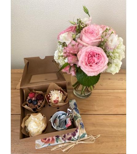 Garden Roses and Gourmet Cupcakes