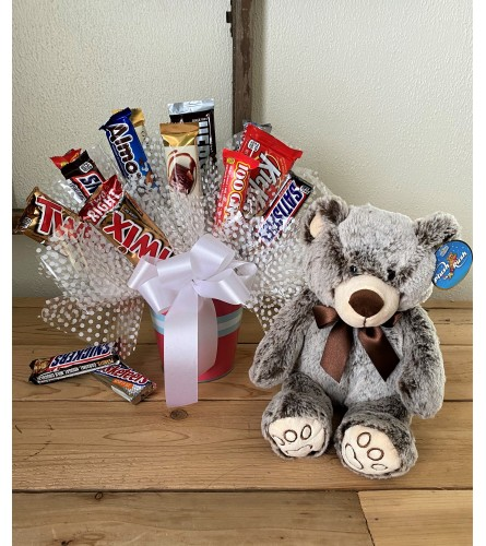 Large Sweet Tooth Candy Bouquet with Bear