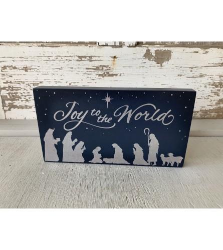 Joy to the World Nativity Sign