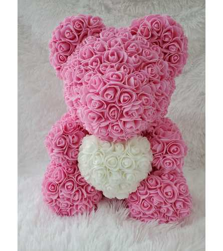 Rose Bear Glamour Heart