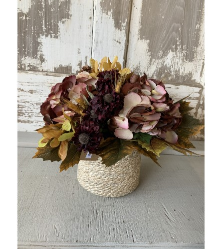 Deep Fall Basket Arrangement