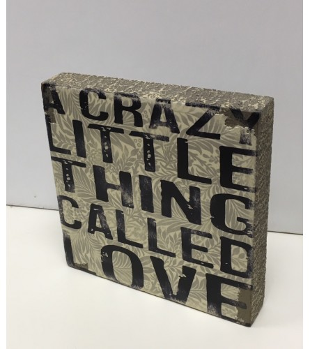 Crazy Love Block Art  I