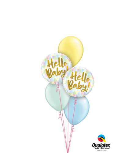 Hello, Baby! Pastel Pearl Classic Balloon Bouquet