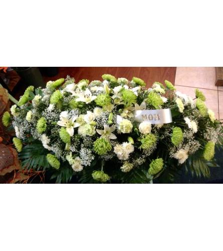 Lovely green casket spray
