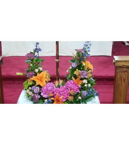 Wildflower urn surround