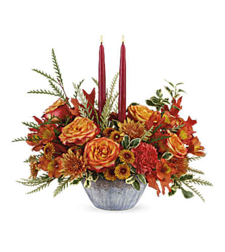 Bountiful Blessings Candle Centerpiece