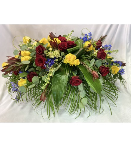 Texas Yellow Rose Casket Spray