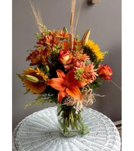 Autumn lily bouquet