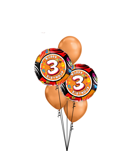 3rd Birthday Classic Balloon Bouquet