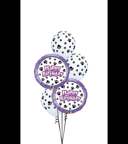 Birthday Paw Prints Classic Balloon Bouquet