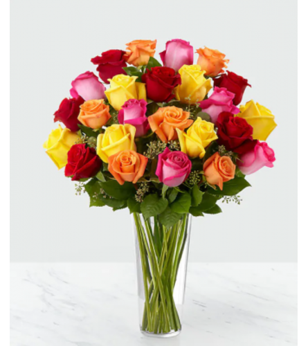 Colored Long Stem Roses