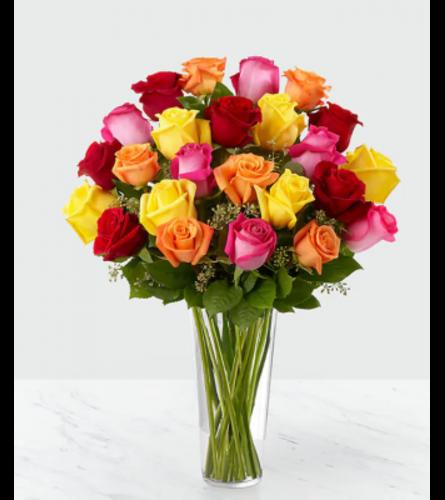 Colored Long Stem Roses