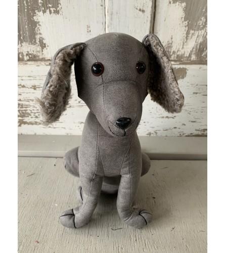 Gray Dog Door Stopper