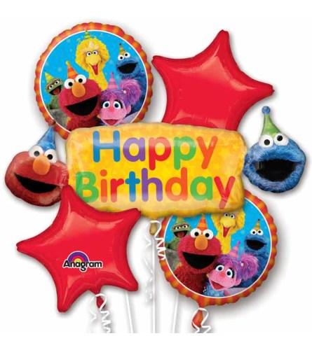 Sesame Street Fun Super Fun Foil Balloon Bouquet