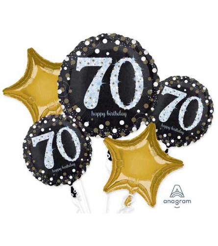 Sparkling 70 Super Fun Foil Balloon Bouquet