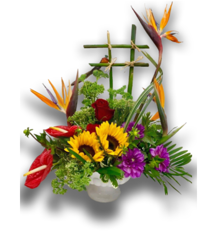 Exotic Birds of Paradise Floral Arrangement